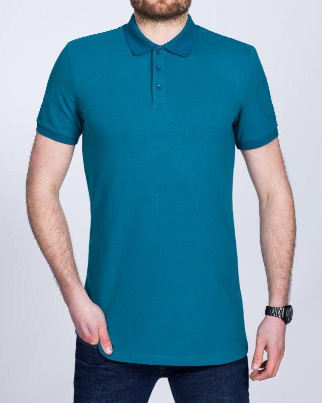 2t Slim Fit Tall Polo Shirt (petrol)