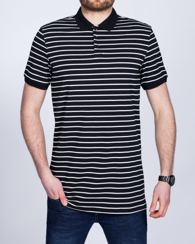 2t Slim Fit Tall Striped Polo Shirt (black)