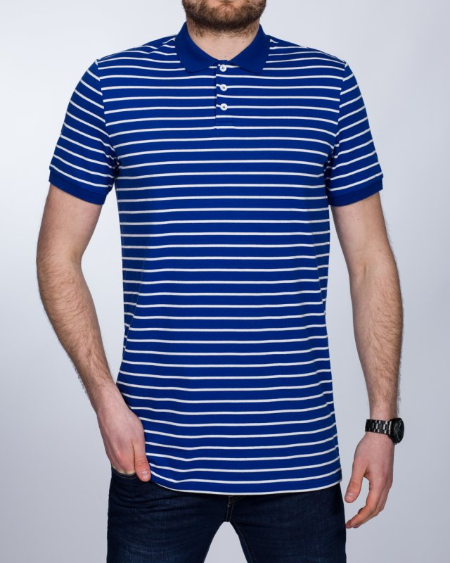 2t Slim Fit Tall Striped Polo Shirt (blue)