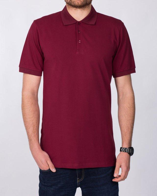 2t Slim Fit Tall Polo Shirt (burgundy)