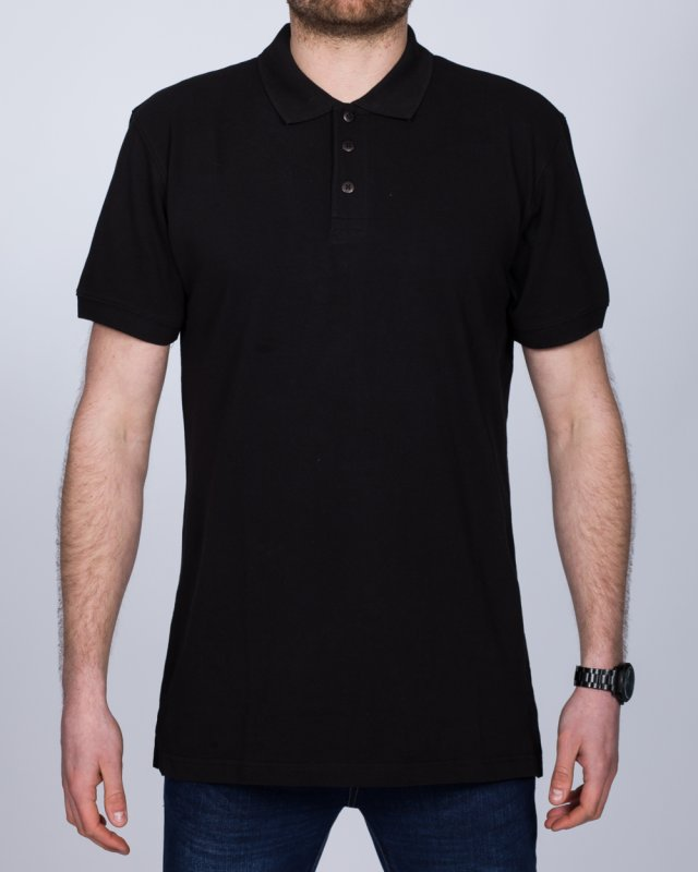 2t Regular Fit Tall Polo Shirt (black)