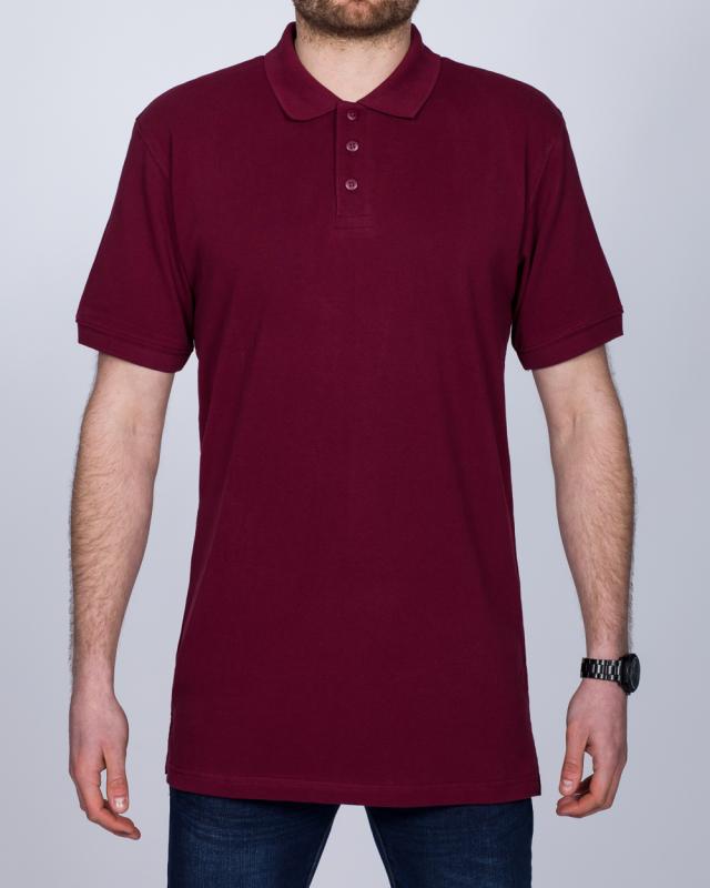 2t Regular Fit Tall Polo Shirt (burgundy)