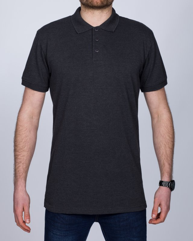2t Regular Fit Tall Polo Shirt (charcoal)