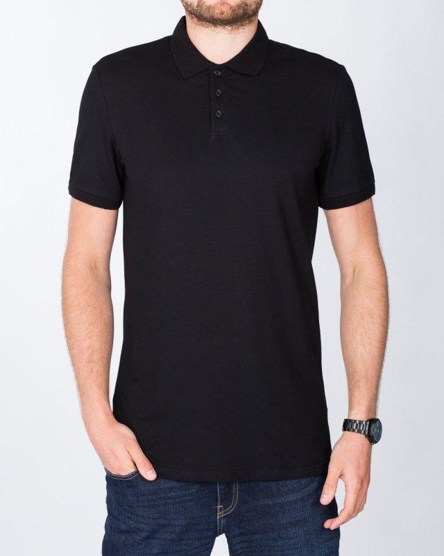 2t Slim Fit Tall Polo Shirt (black)