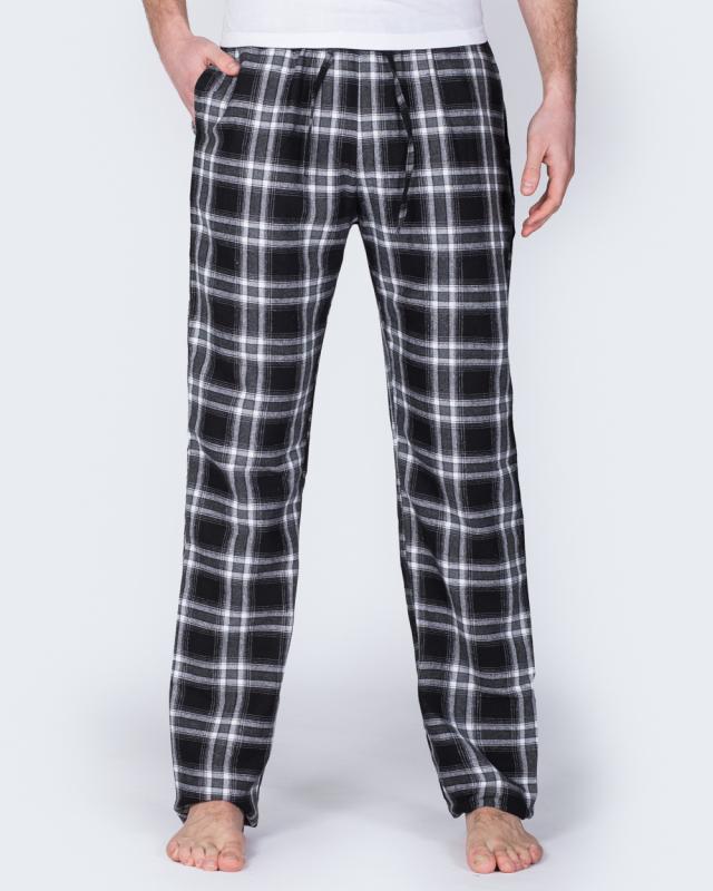 2t Tall Regular Fit Pyjama Bottoms (black/white)