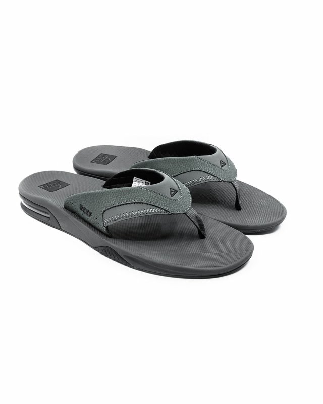 Reef Fanning Flip Flops (grey/black)