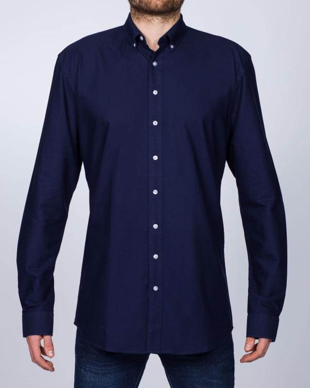 2t Regular Fit Long Sleeve Tall Shirt (dark blue)