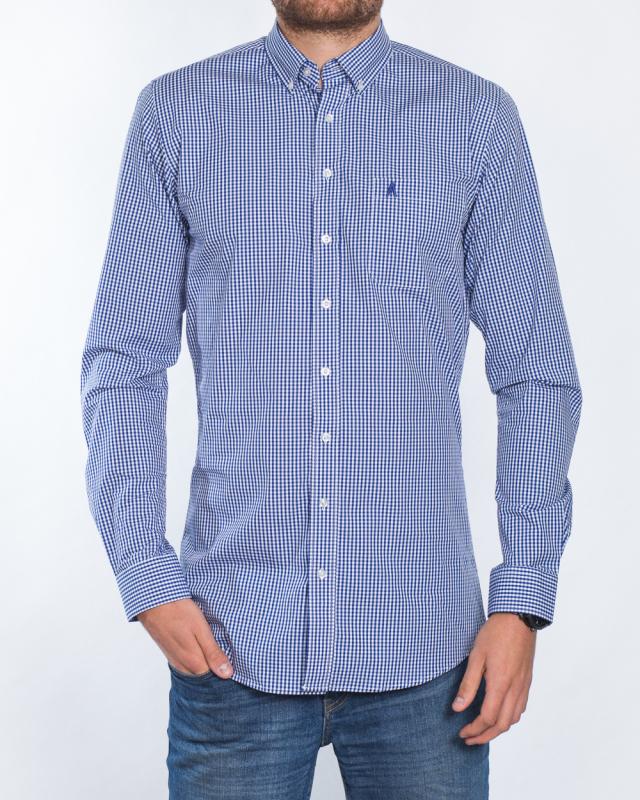 2t Slim Fit Long Sleeve Tall Shirt (blue check)