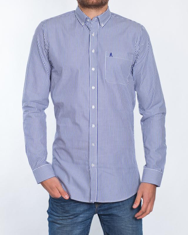 2t Slim Fit Long Sleeve Tall Shirt (blue stripe)