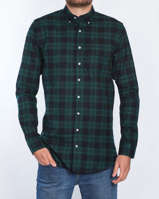 2t Slim Fit Long Sleeve Tall Shirt (black watch)