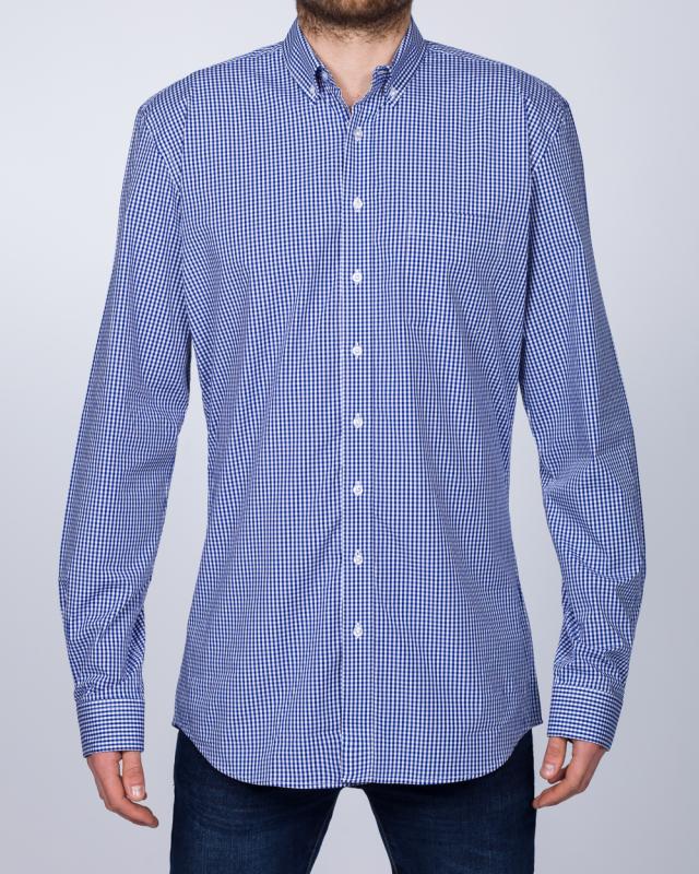 2t Regular Fit Long Sleeve Tall Shirt (blue check)