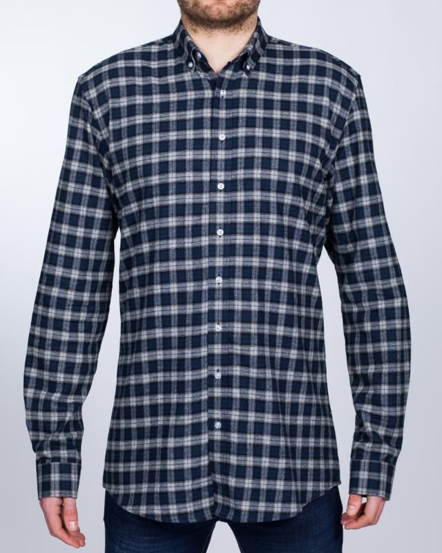 2t Regular Fit Long Sleeve Tall Shirt (deep sea check)