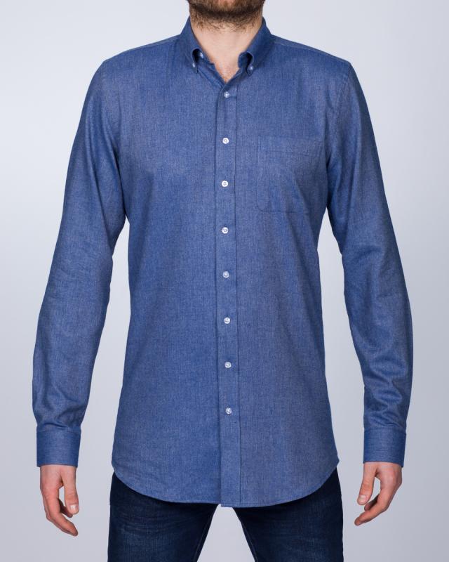 2t Slim Fit Long Sleeve Tall Shirt (blue denim)