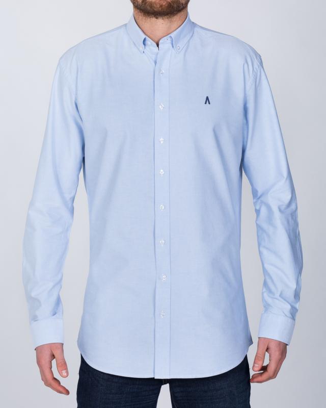 2t Oxford Regular Fit Long Sleeve Tall Shirt (sky)