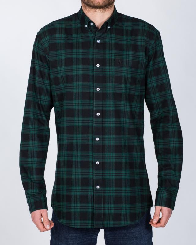 2t Regular Fit Long Sleeve Tall Shirt (black watch)