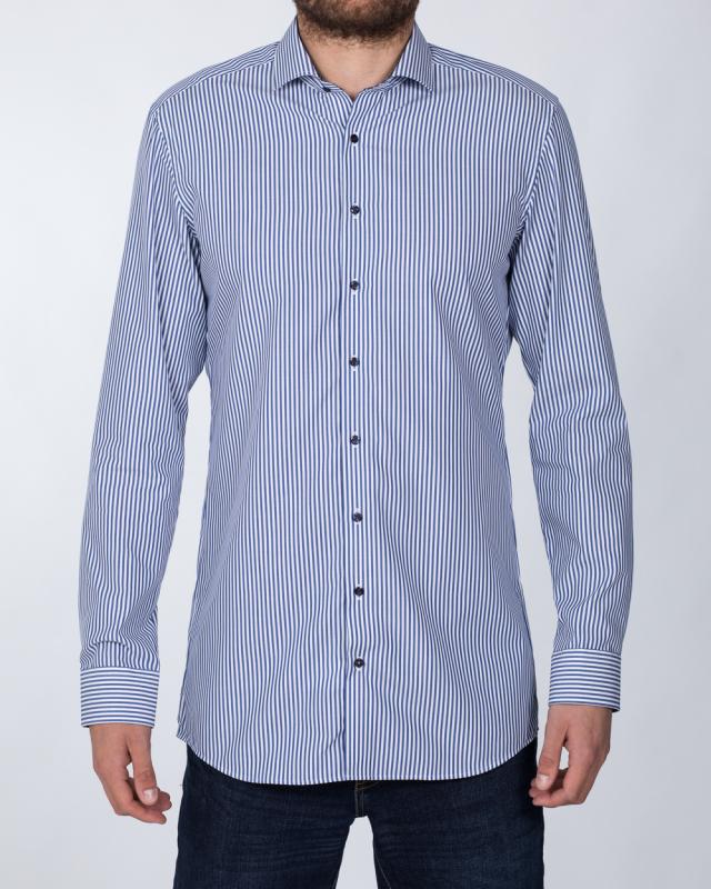 Eterna Slim Fit Tall Shirt (denim stripe)