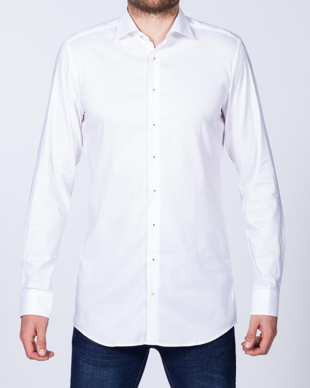 Eterna Slim Fit Stretch Tall Shirt (white)