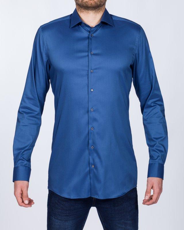 Eterna Slim Fit Stretch Tall Shirt (slate blue)