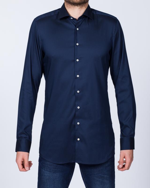 Eterna Slim Fit Stretch Tall Shirt (navy)