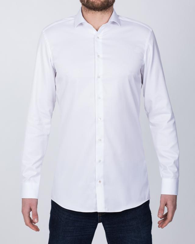 Eterna Slim Fit Tall Opaque Shirt (white)