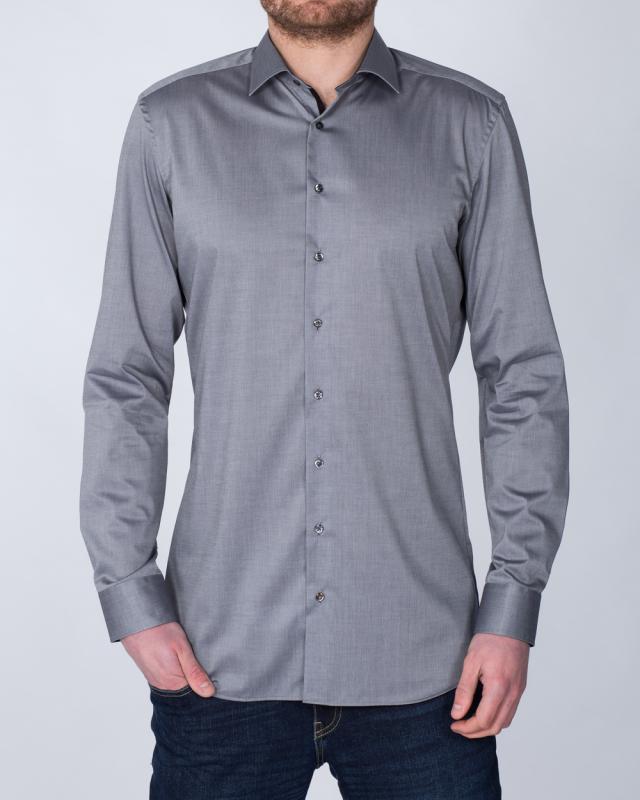 Eterna Slim Fit Tall Shirt (steel grey)