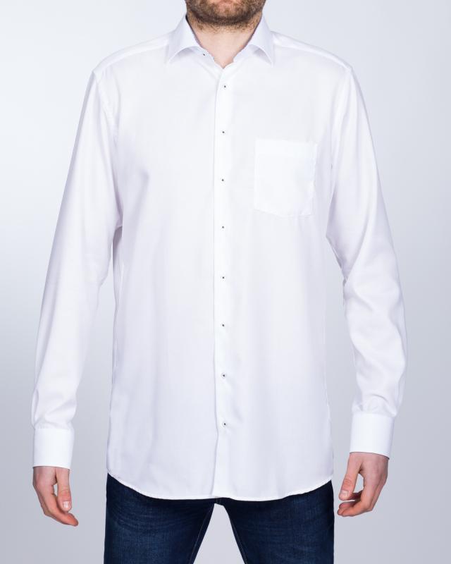Eterna Modern Fit Tall Shirt (white/blue collar)
