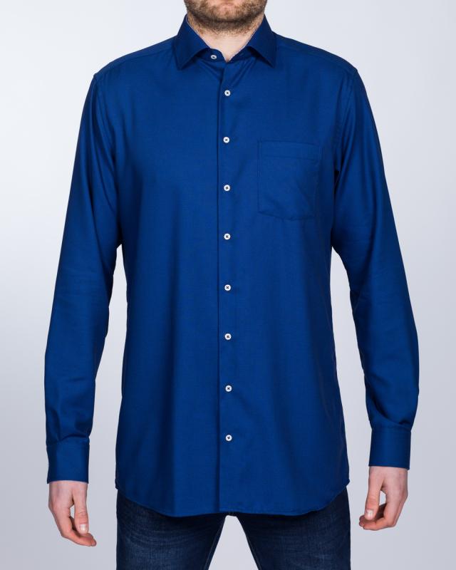 Eterna Modern Fit Tall Shirt (textured navy)