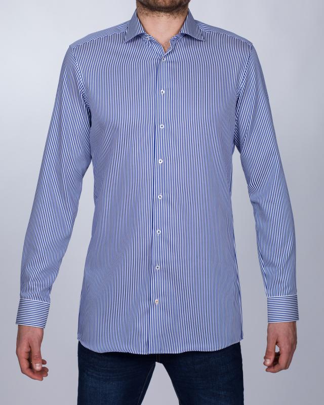Eterna Slim Fit Tall Shirt (striped blue)