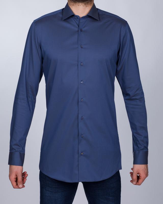 Eterna Slim Fit Tall Shirt (slate blue)