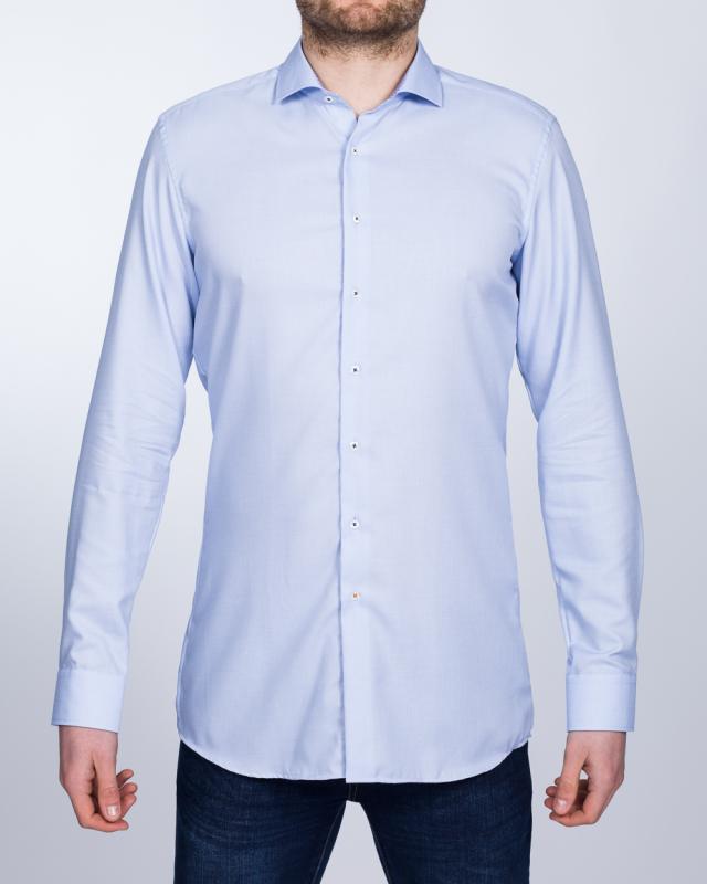 Eterna Slim Fit Tall Shirt (sky/blue collar)