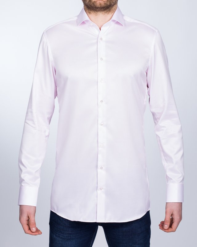 Eterna Slim Fit Two-Ply Tall Shirt (pink)