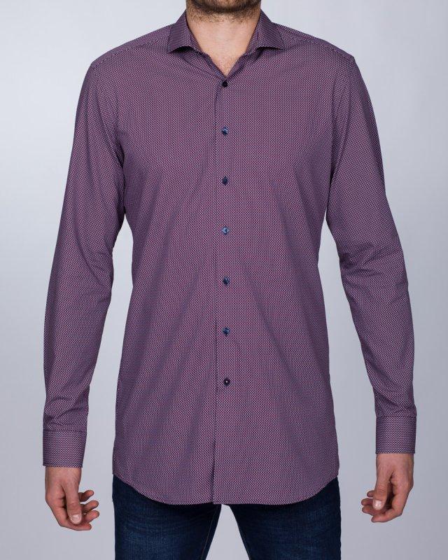Eterna Slim Fit Tall Shirt (purple)