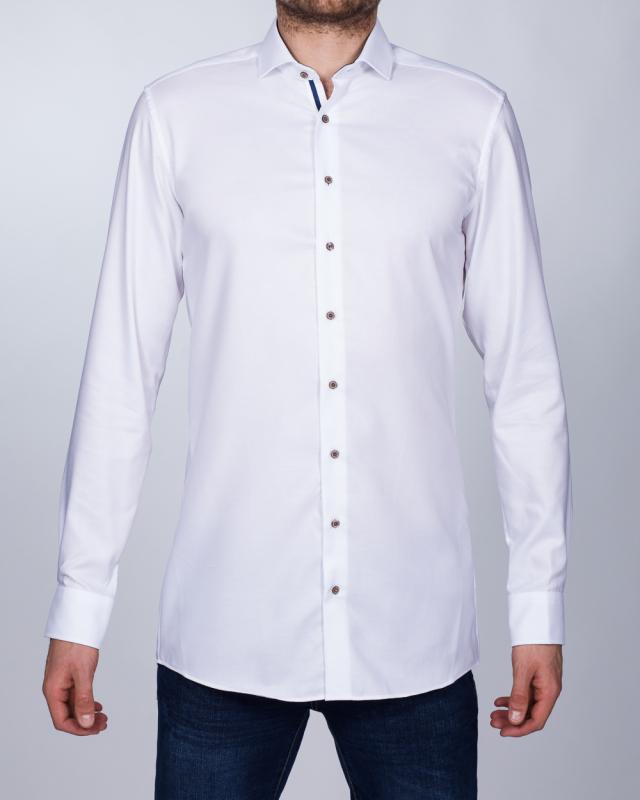 Eterna Slim Fit Tall Shirt (textured white)