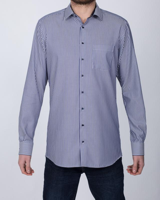 Eterna Modern Fit Tall Shirt (navy stripe)