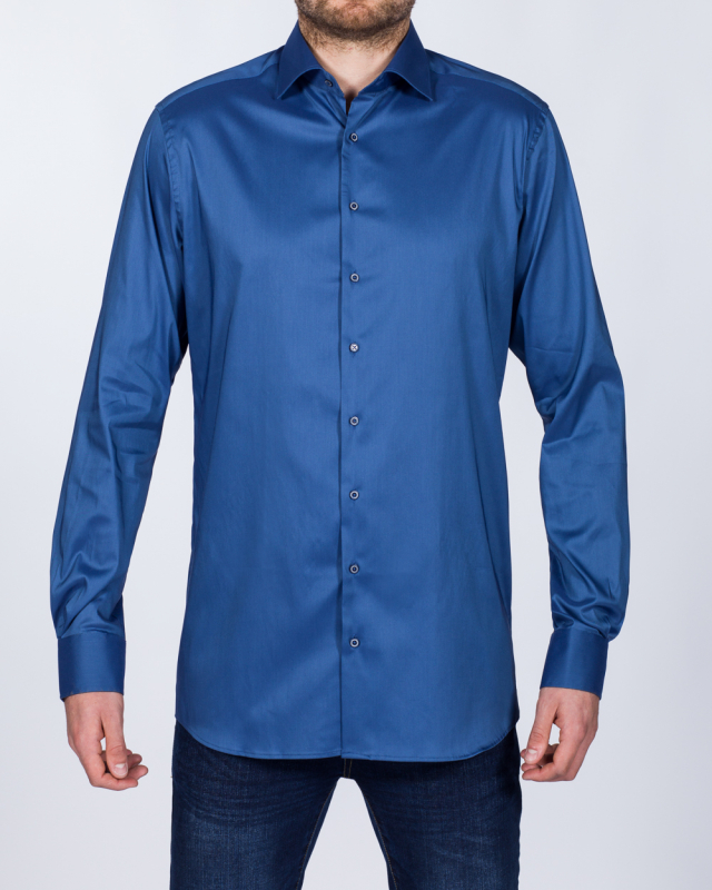 Eterna Modern Fit Stretch Tall Shirt (slate blue)