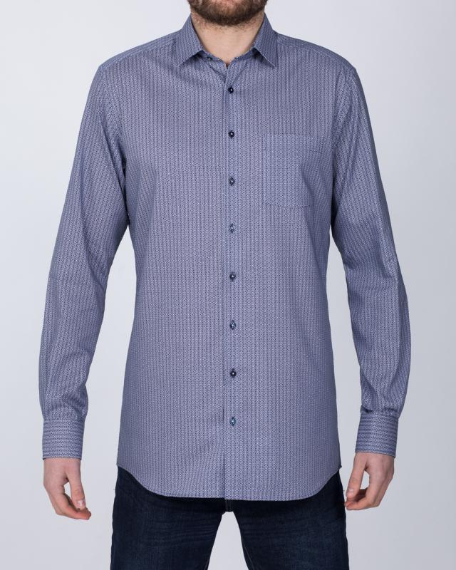 Eterna Modern Fit Tall Shirt (blue detail)