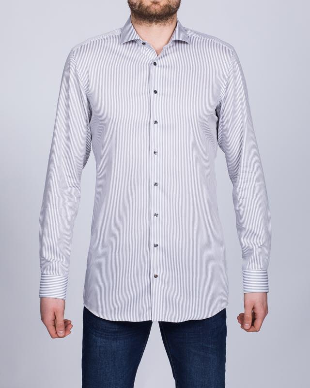 Eterna Slim Fit Tall Shirt (grey stripe)