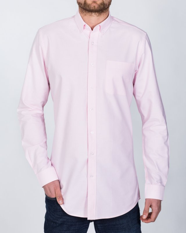 2t Oxford Slim Fit Long Sleeve Tall Shirt (pink)