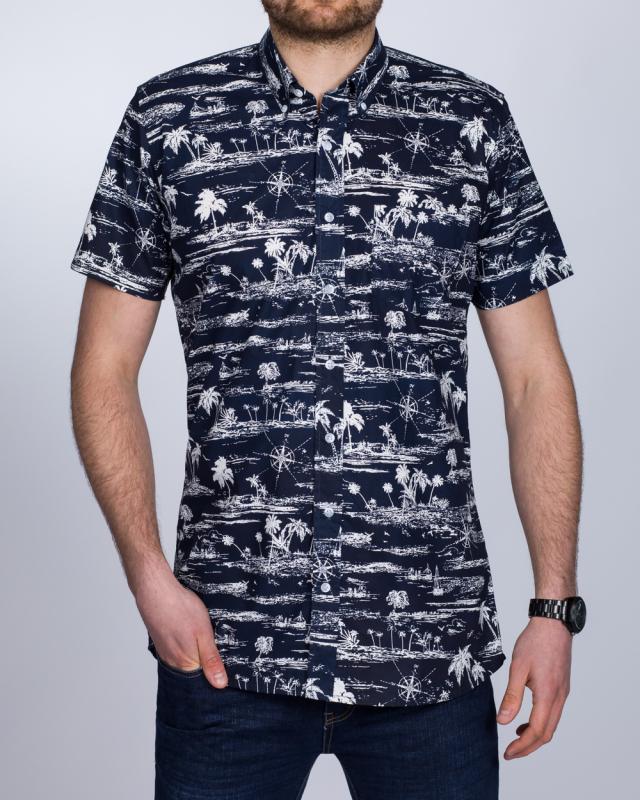 2t Short Sleeve Tall Shirt (palm print)