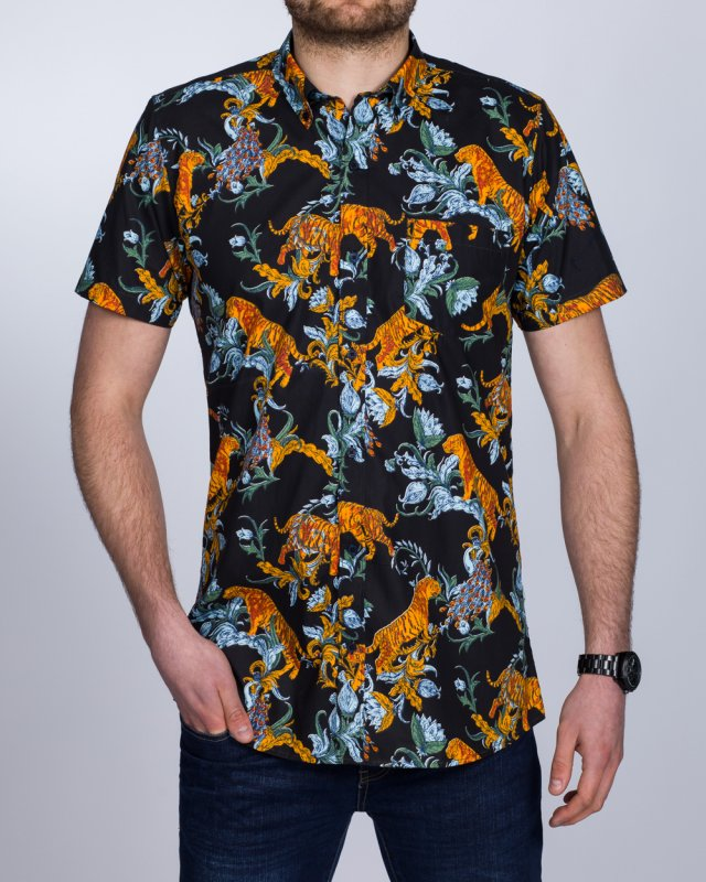 2t Short Sleeve Tall Shirt (tiger print)