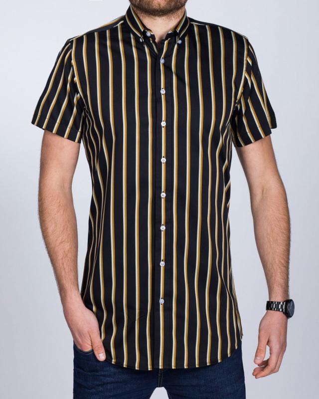 2t Slim Fit Short Sleeve Tall Shirt (black/orange)