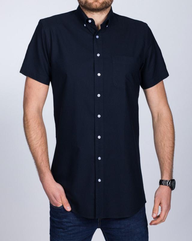 2t Slim Fit Short Sleeve Tall Shirt (plain navy)