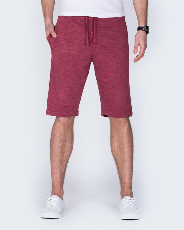 2t Tall Sweat Shorts (burgundy marl)