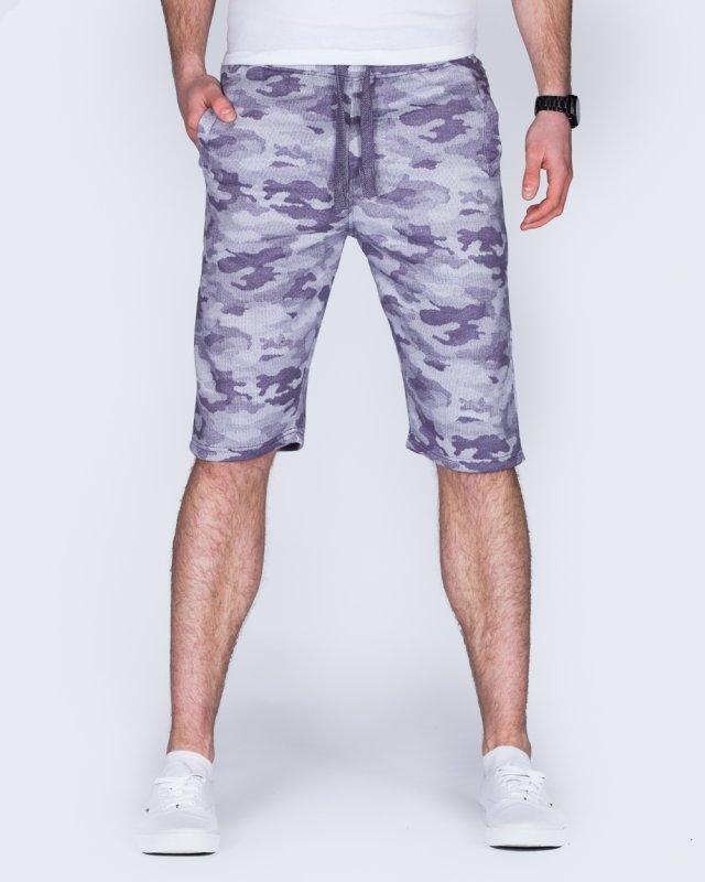 2t Tall Camo Sweat Shorts (indigo)
