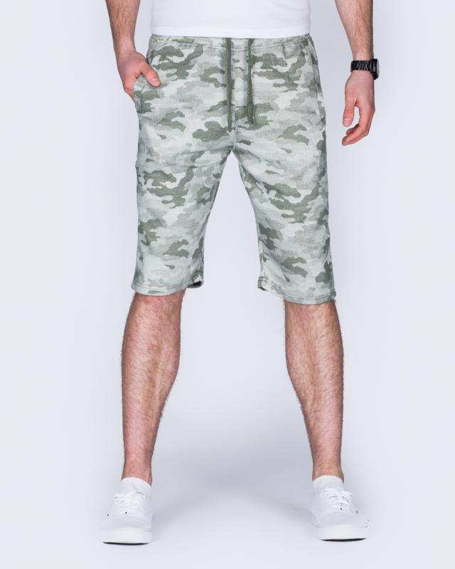 2t Tall Camo Sweat Shorts (olive)
