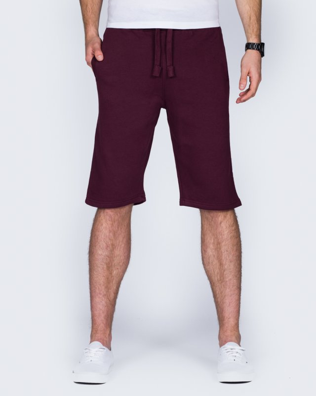 2t Tall Sweat Shorts (burgundy)
