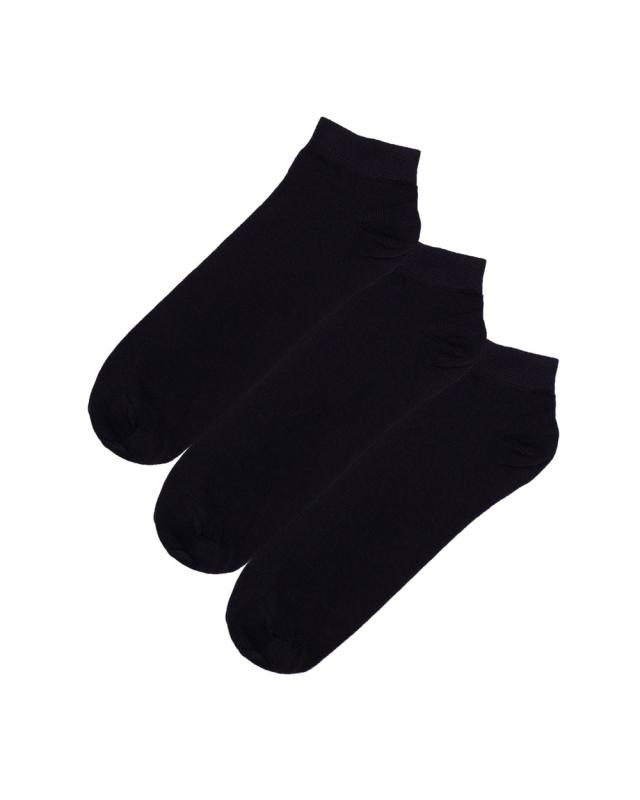 2t Ankle Socks 3 Pairs (black)