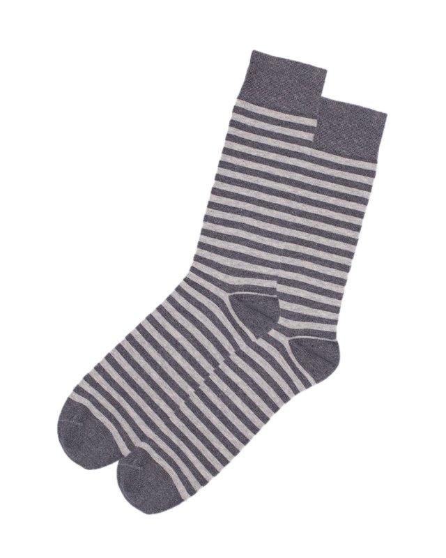 2t Striped Socks 2 Pairs (grey)