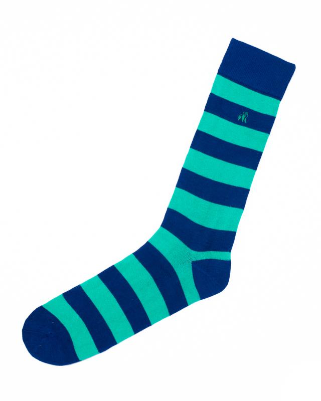 Swole Panda Bamboo Socks 1 Pair (lime green striped)