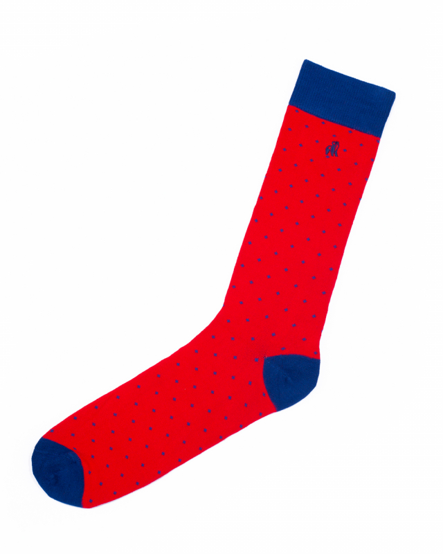 Swole Panda Bamboo Socks 1 Pair (spotted red)